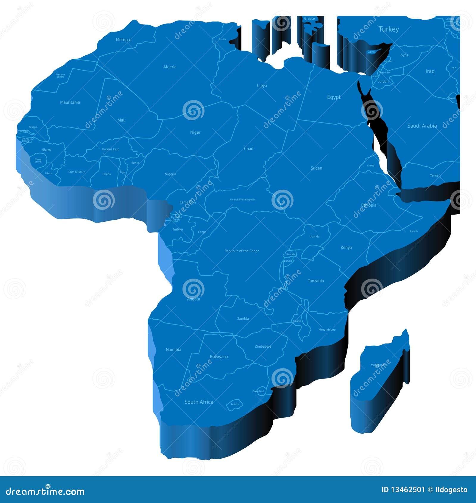 Mapa 3d de África
