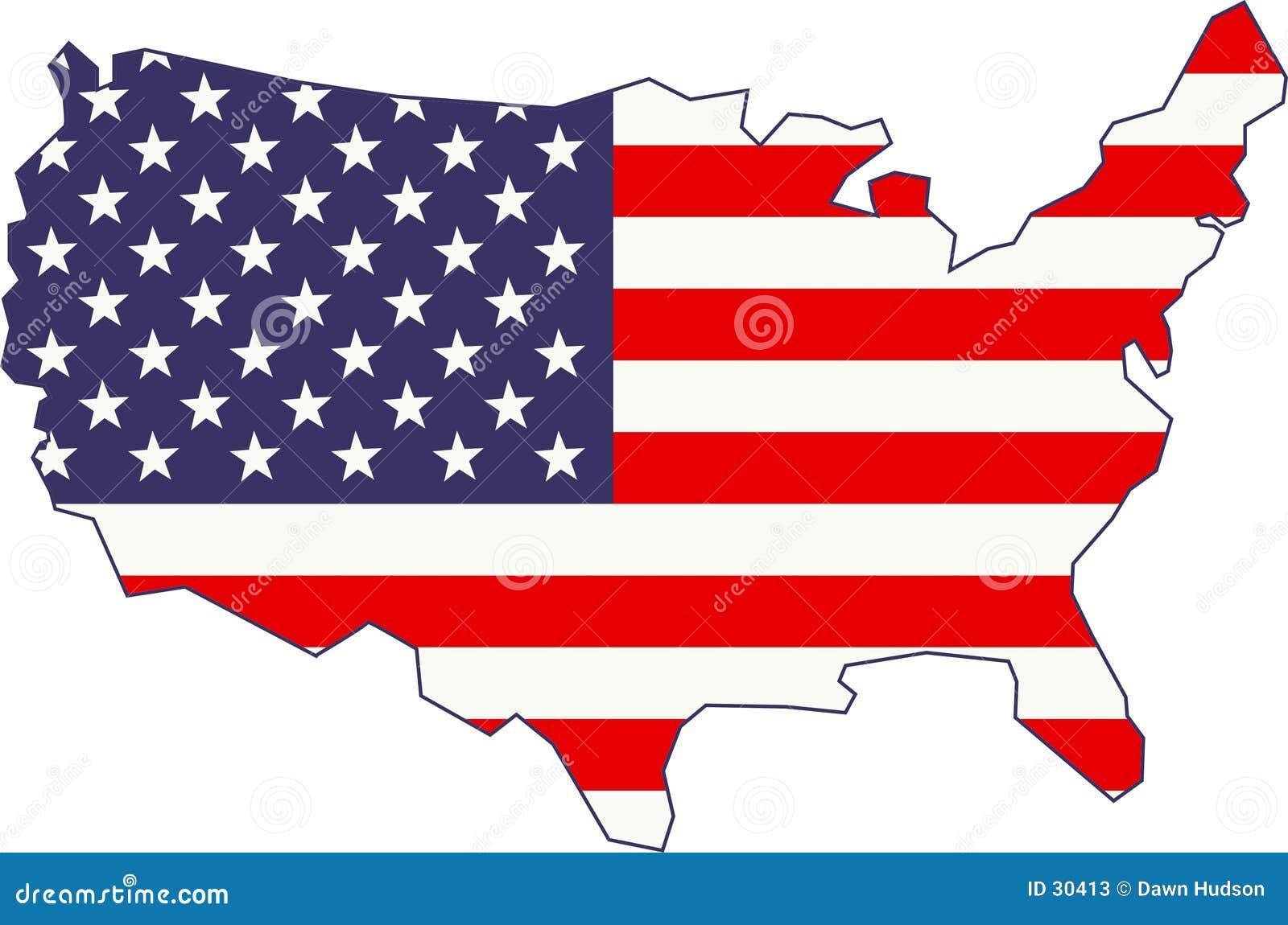 Mapa amerykańskiej flagi