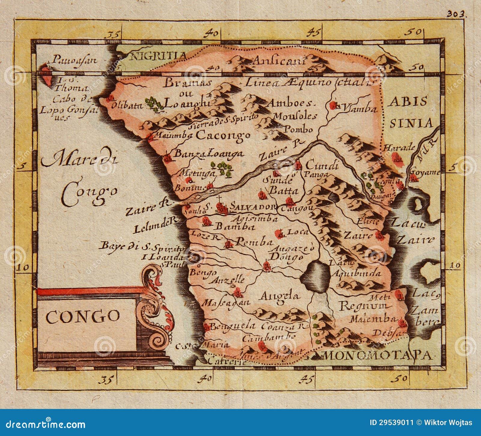 Mapa antiguo de congo frica imagen de archivo imagen de frica mapa antiguo de congo frica gumiabroncs Gallery