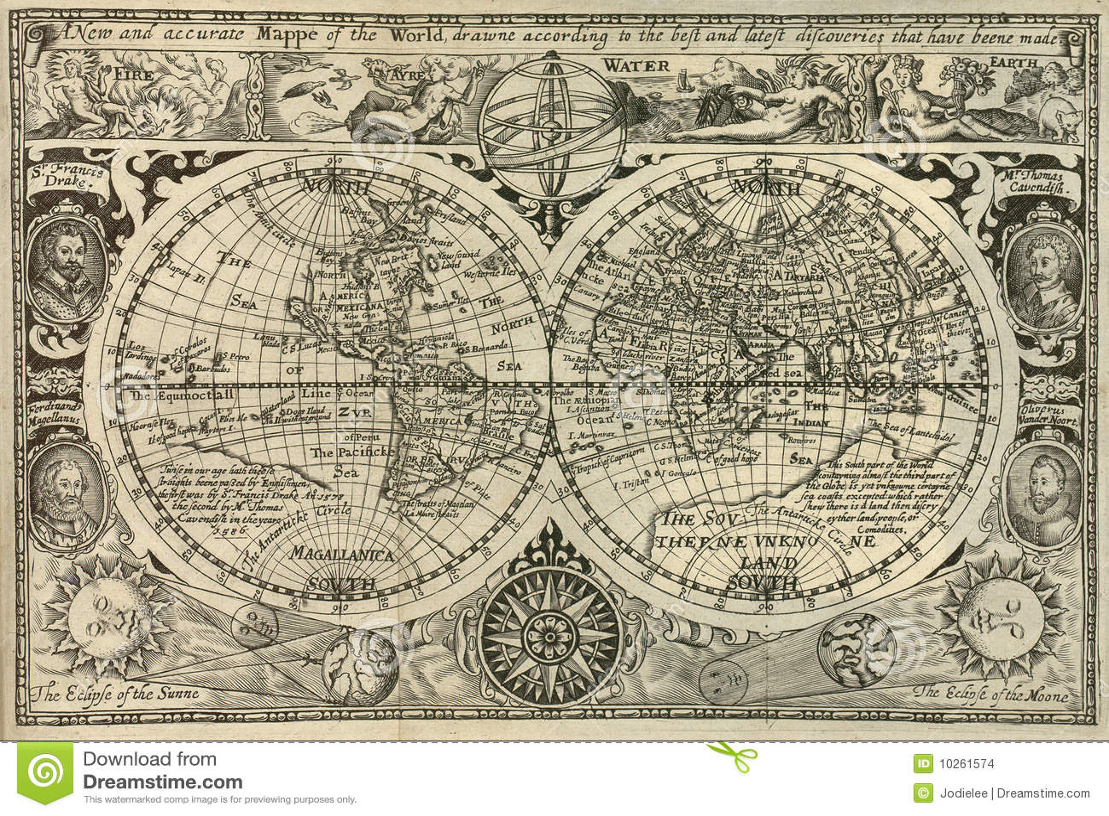 Mapa antykwarski świat