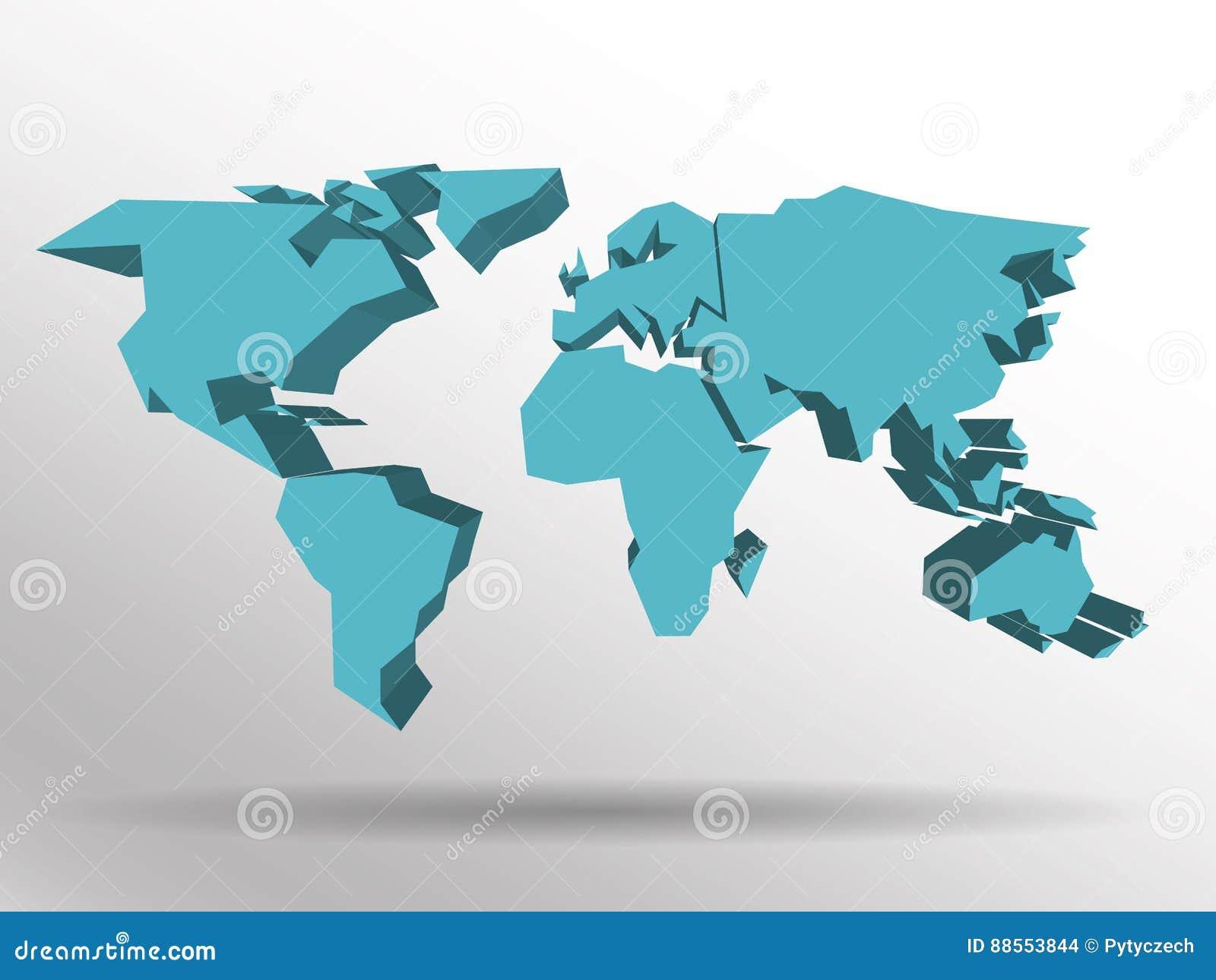 Mapa azul 3d del mundo con la sombra ca da en fondo papel pintado mundial del tema eps10 - Mundo del papel pintado ...