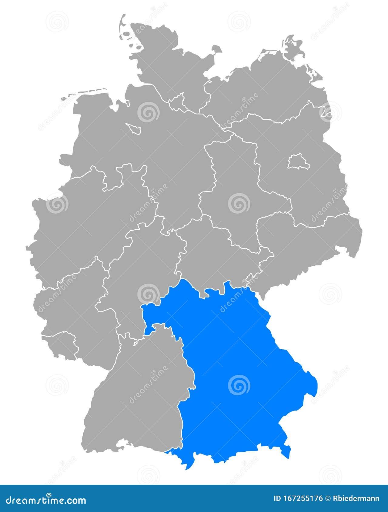 Mapa bawaria Bawaria Kalan
