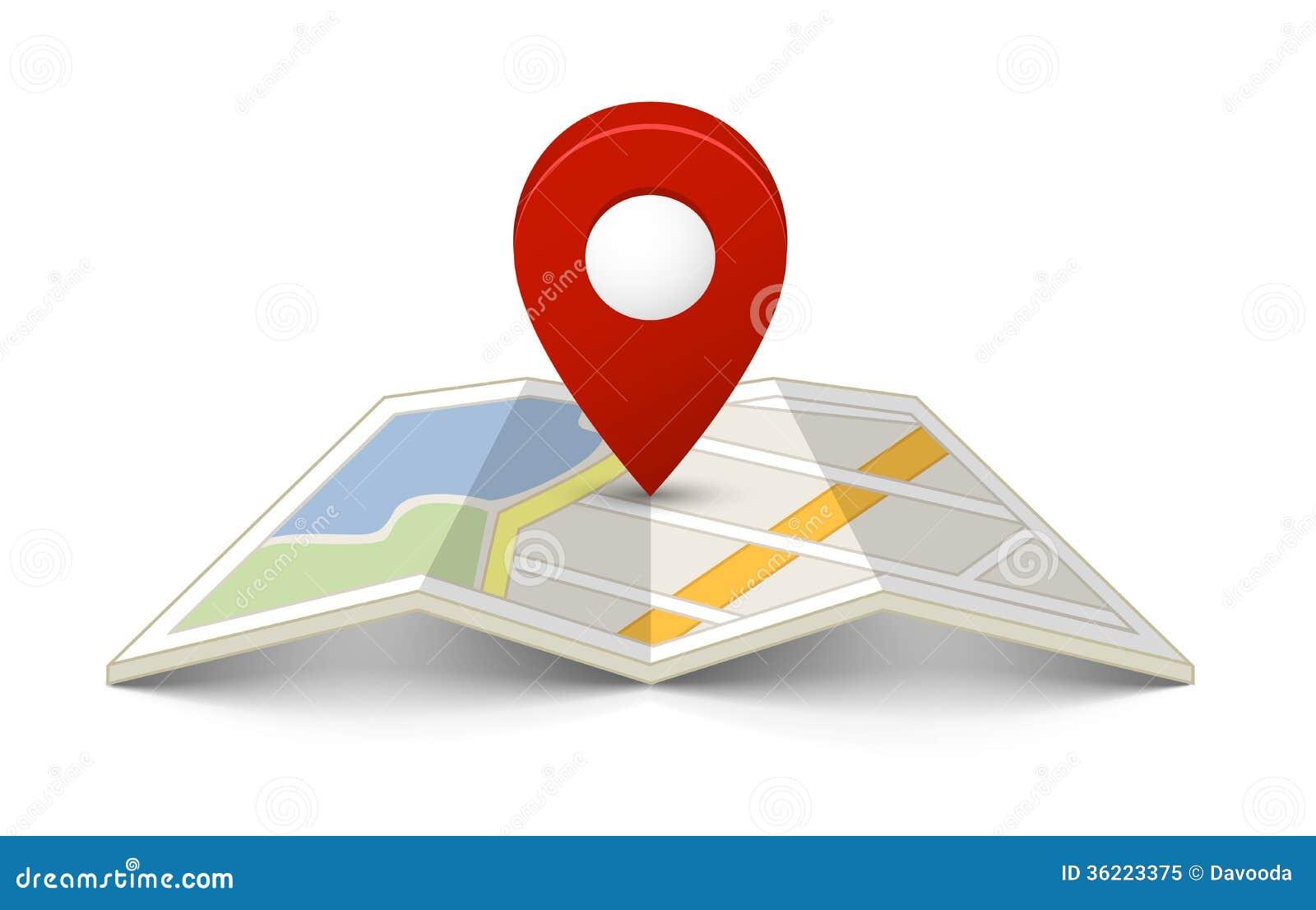 Mapa com um pino