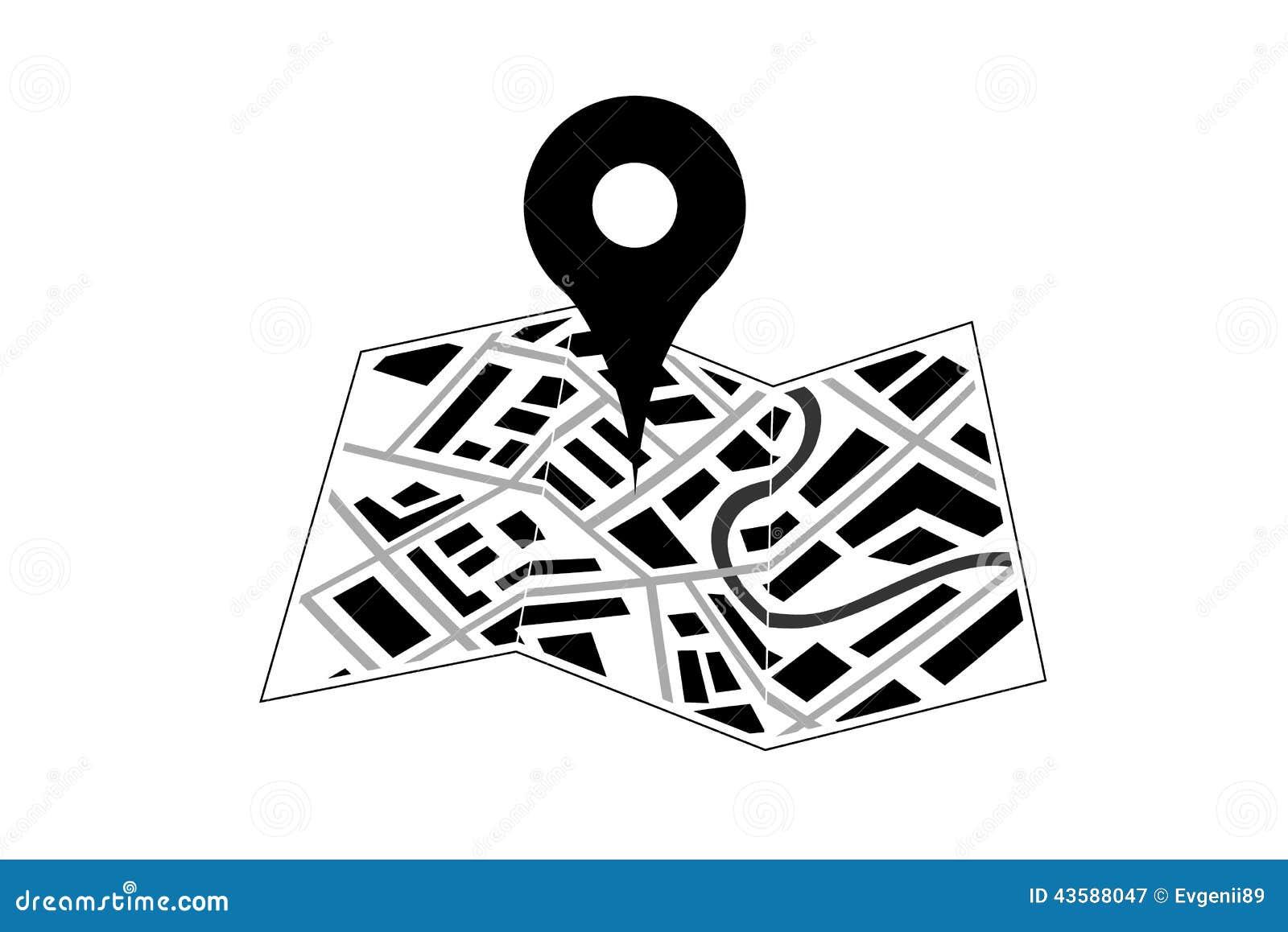 Ubicación Posición Icono Gráficos Vectoriales Gratis: Marcador De Los Gps Icono Del Perno Del Mapa Ilustración