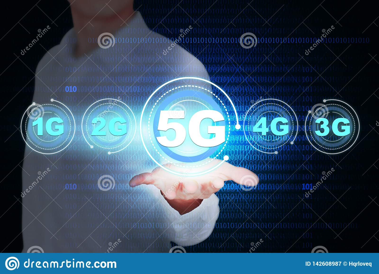 Mapa creativo del concepto del desarrollo 5G, datos móviles inalámbricos de alta velocidad