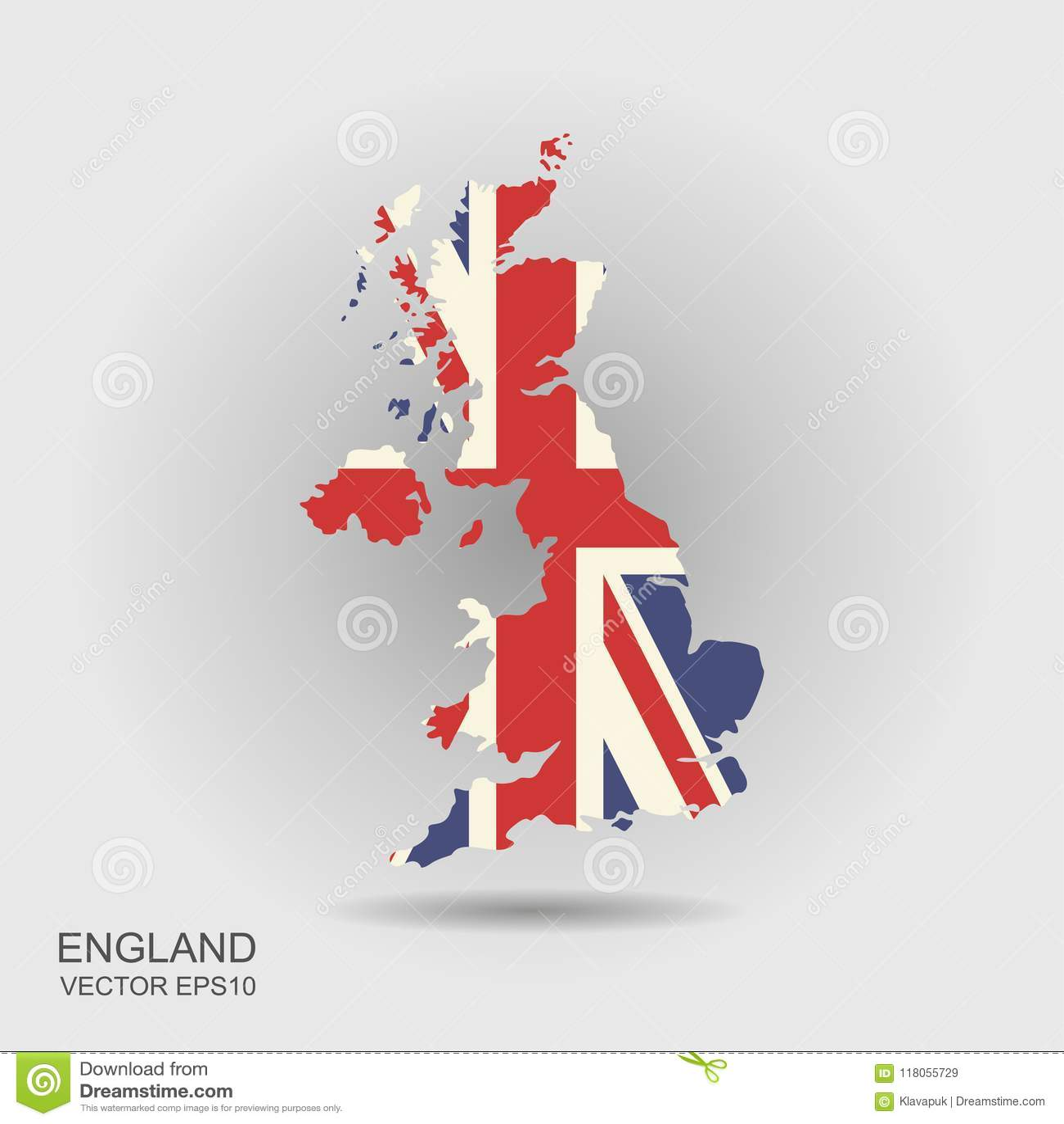 Mapa da bandeira de Reino Unido