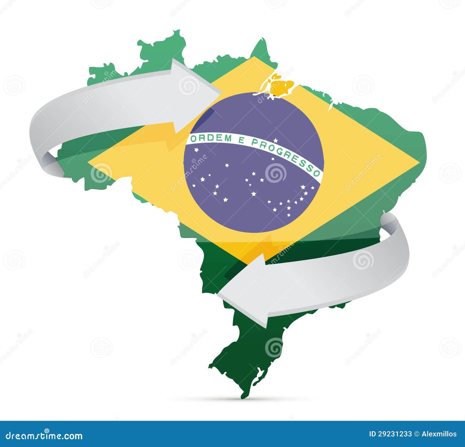 Download Mapa Da Bandeira Do Conceito Em Mudança Das Ideias De Brasil Ilustração Stock - Ilustração de mudança, grampo: 29231233