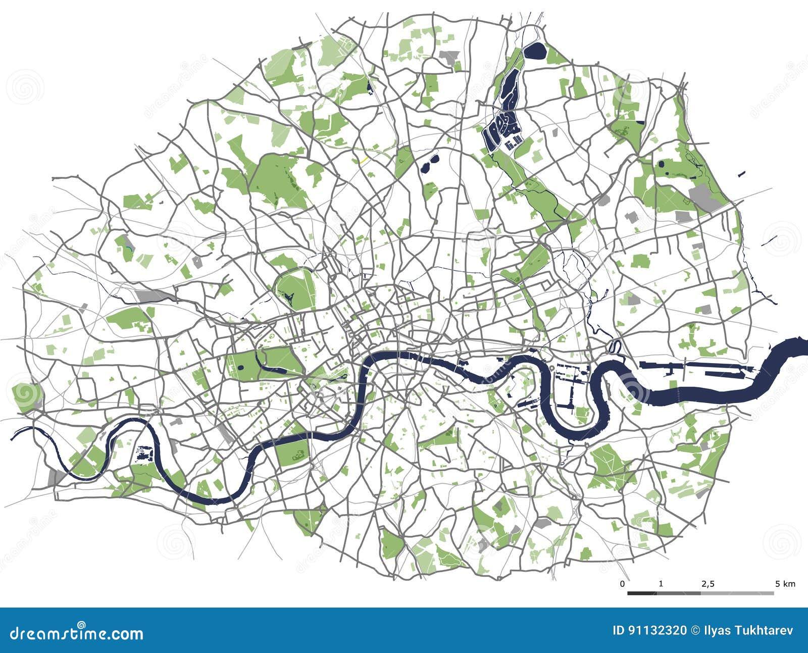 Mapa Da Cidade De Londres Gra Bretanha Ilustracao Stock