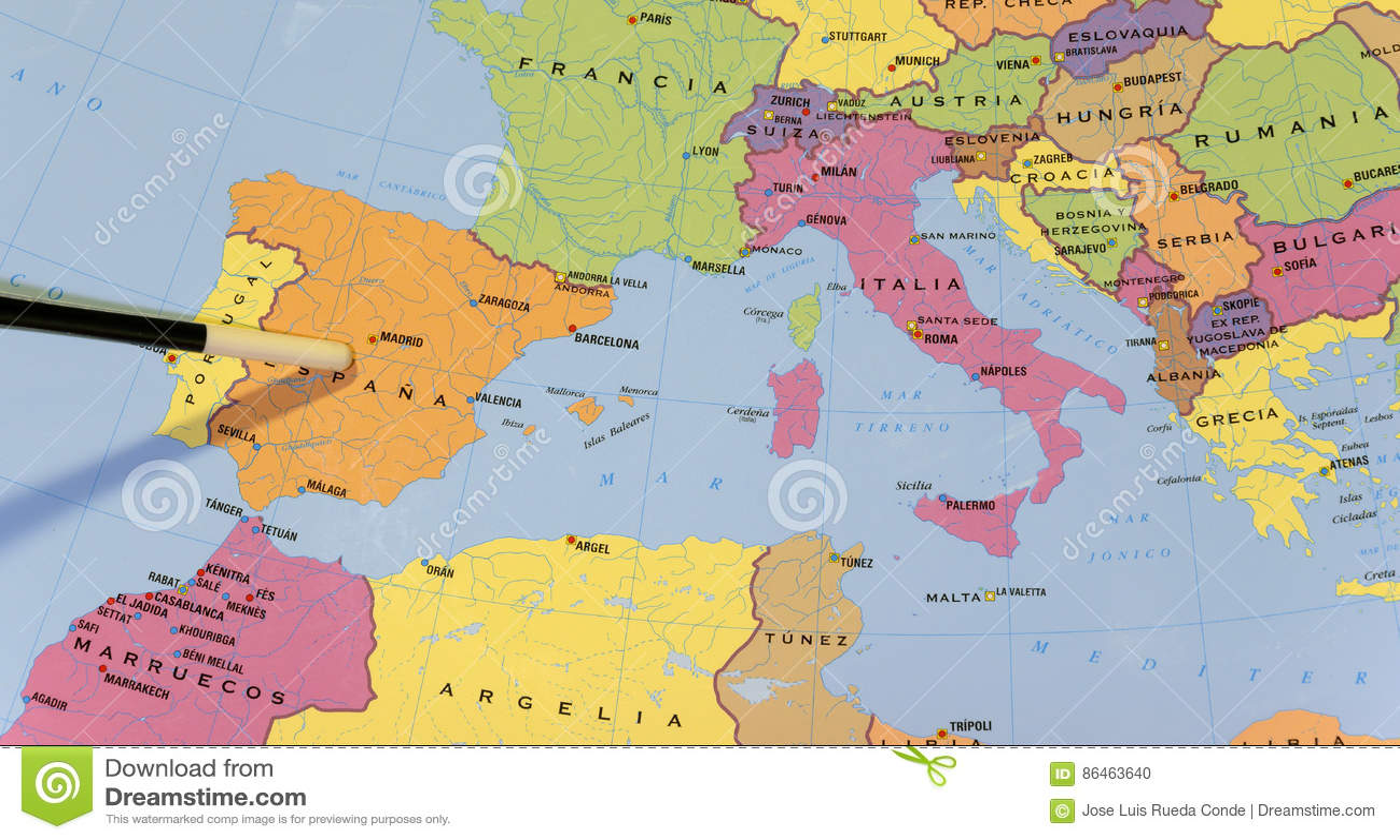 mapa europa do sul Mapa Da Escola Do ` S Do Europa Sul Foto de Stock   Imagem de  mapa europa do sul