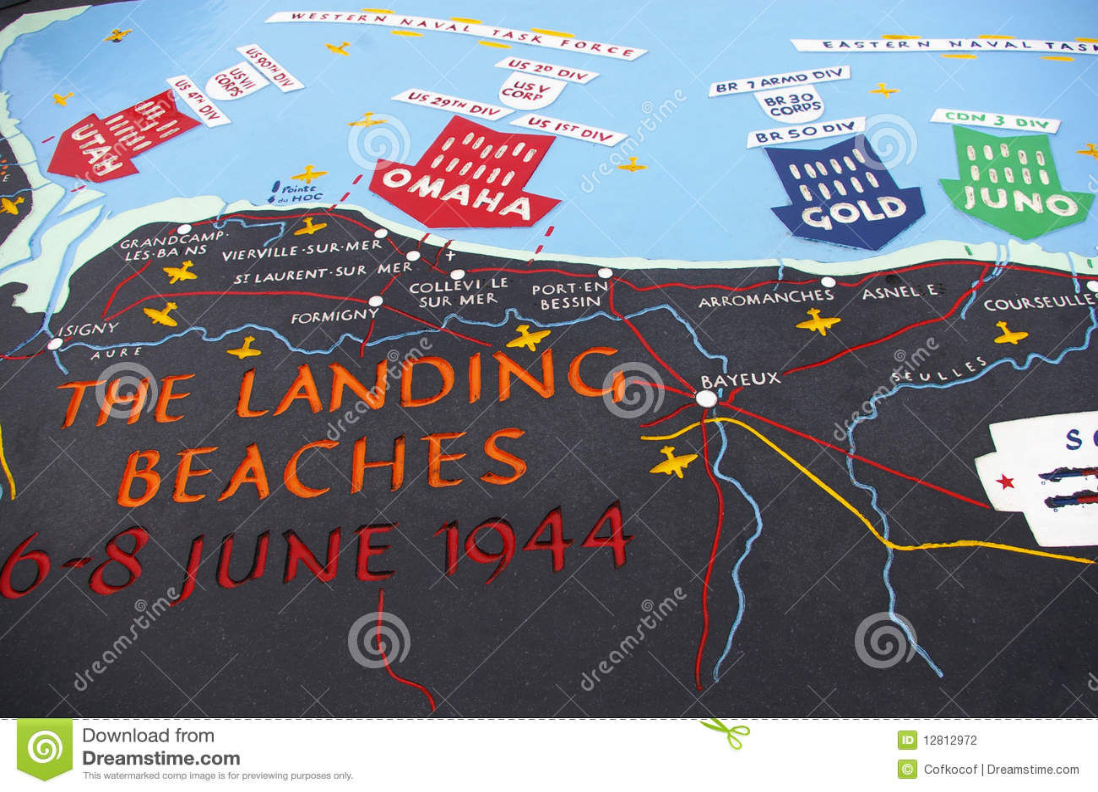 Mapa da praia do dia D