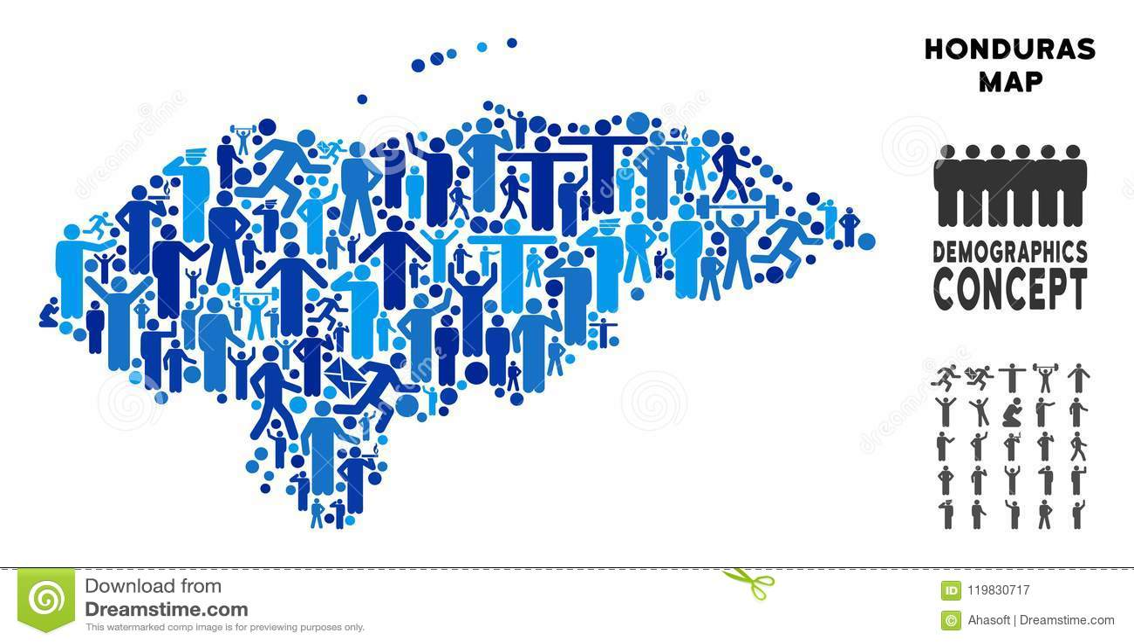 Mapa Das Honduras Dos Povos Ilustracao Do Vetor Ilustracao De
