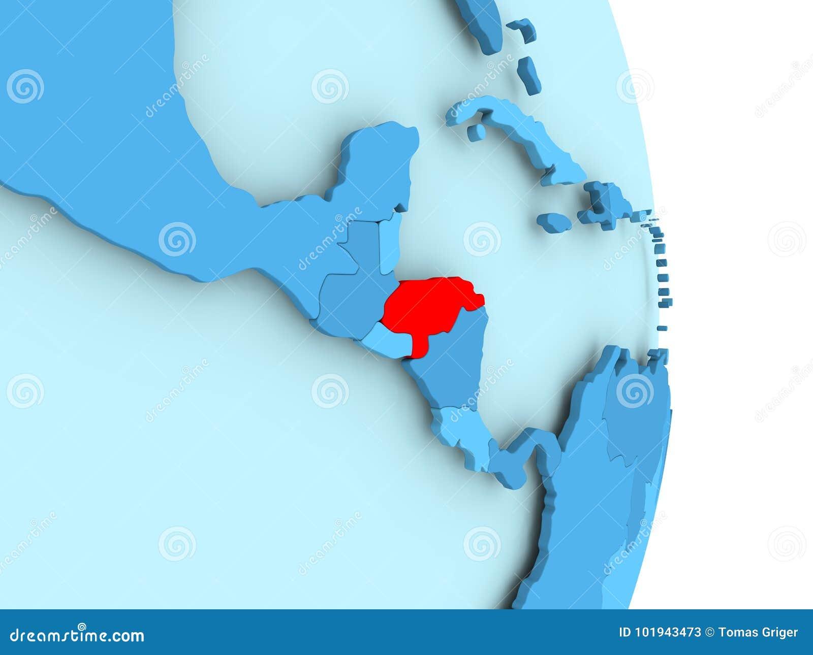 Mapa Das Honduras No Vermelho Ilustracao Stock Ilustracao De