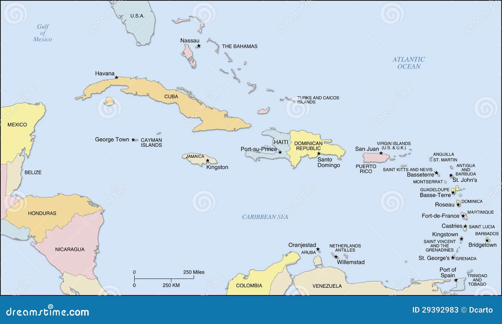 mapa das caraibas Mapa Das Ilhas Das Caraíbas Ilustração do Vetor   Ilustração de  mapa das caraibas