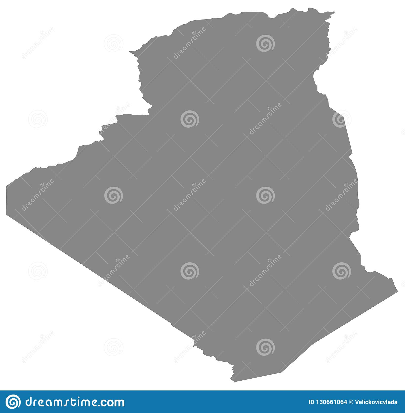 Mapa de Argélia - país no Maghreb