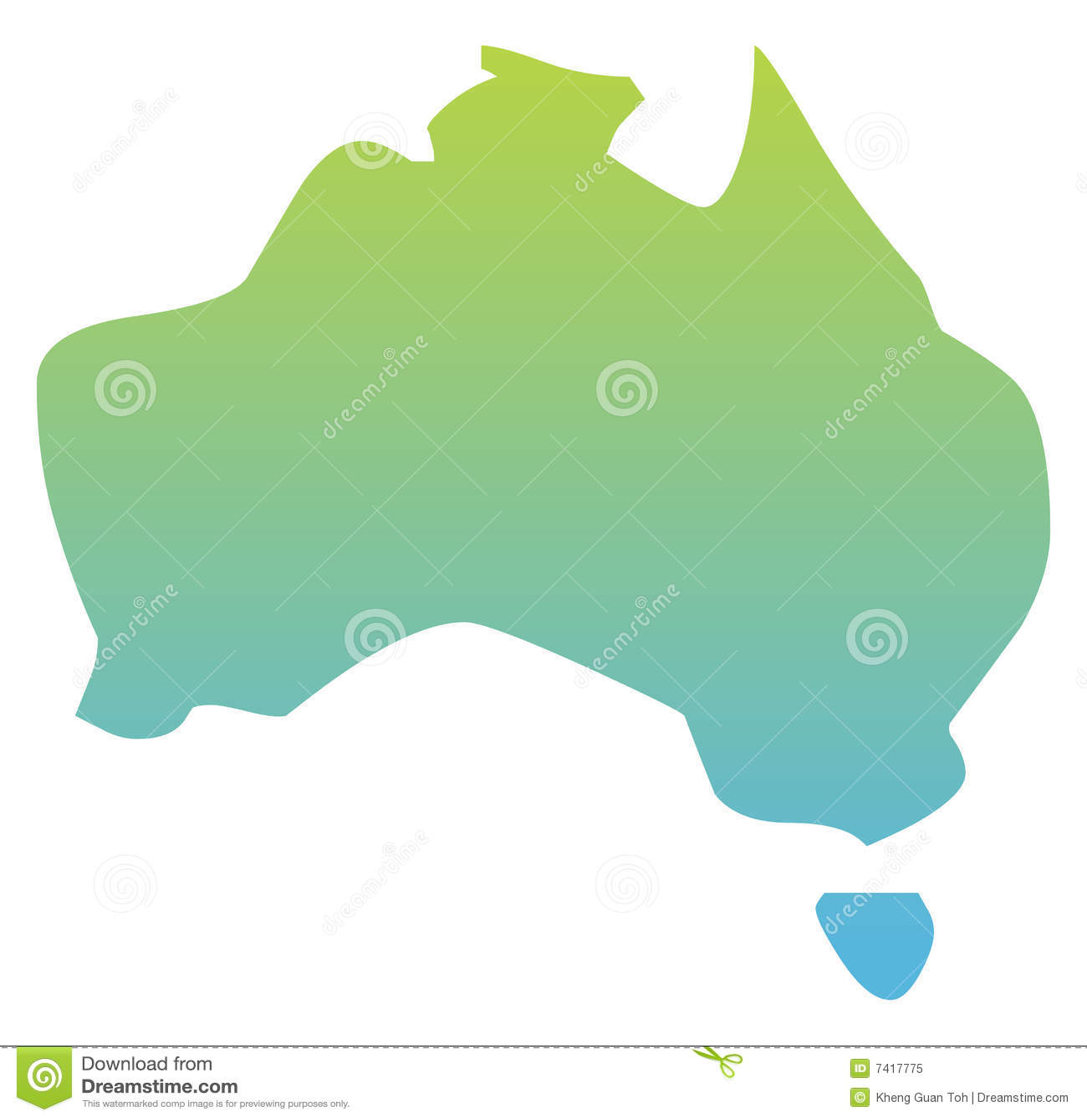 Mapa de Austrália