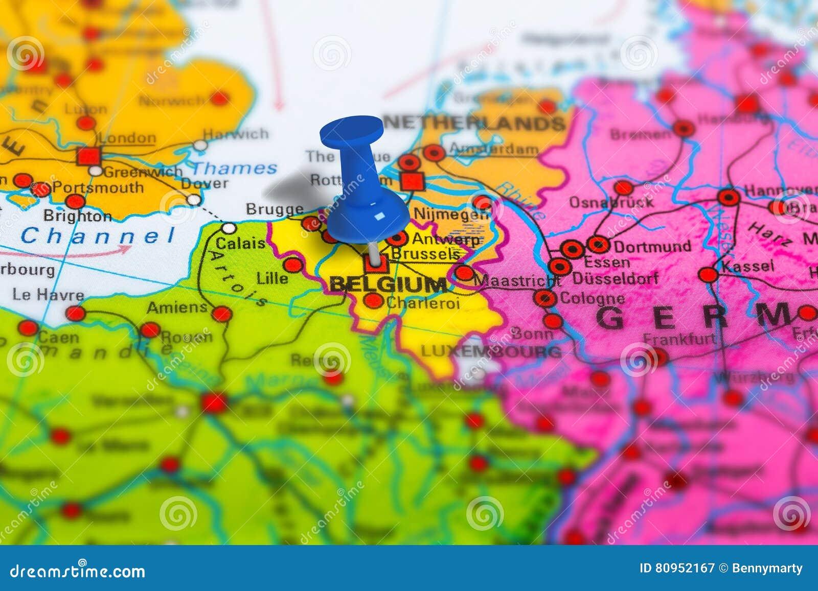 Mapa De Bruselas Belgica Imagen De Archivo Imagen De Pais 80952167