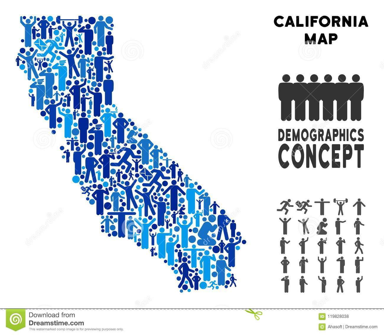 Mapa de California del Demographics