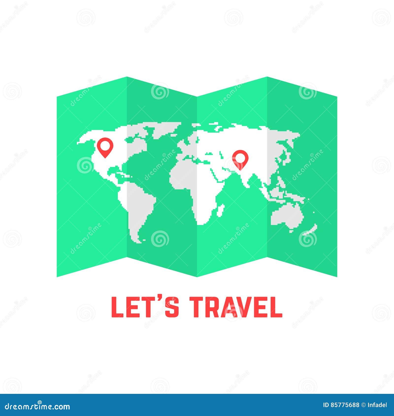 Mapa de camino verde con imagen del mundo