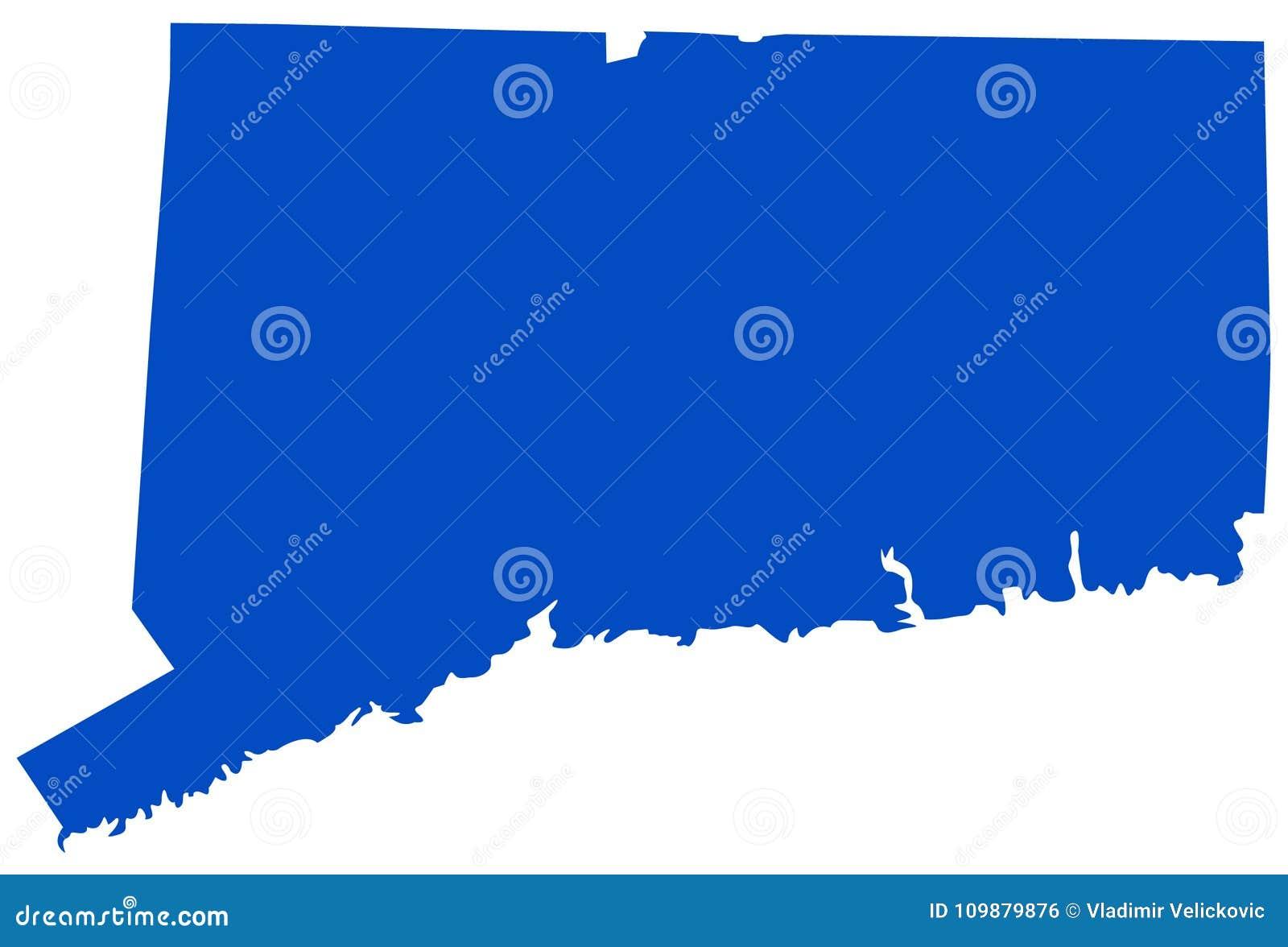 Mapa De Connecticut - Estado De Los Estados Unidos Del Noreste ...