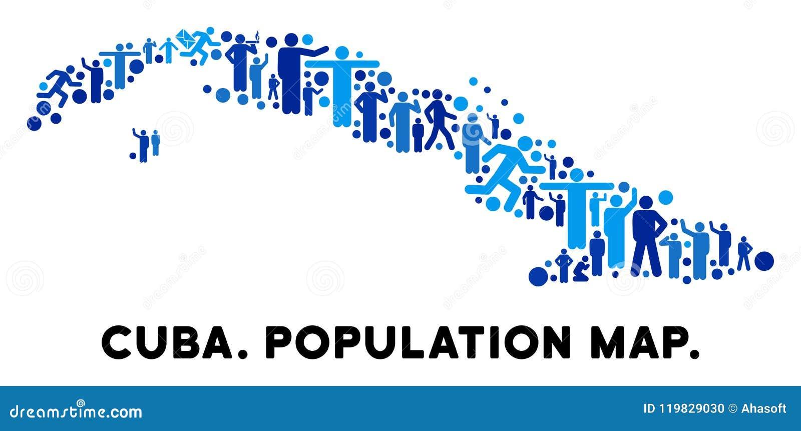 Mapa de Cuba del Demographics