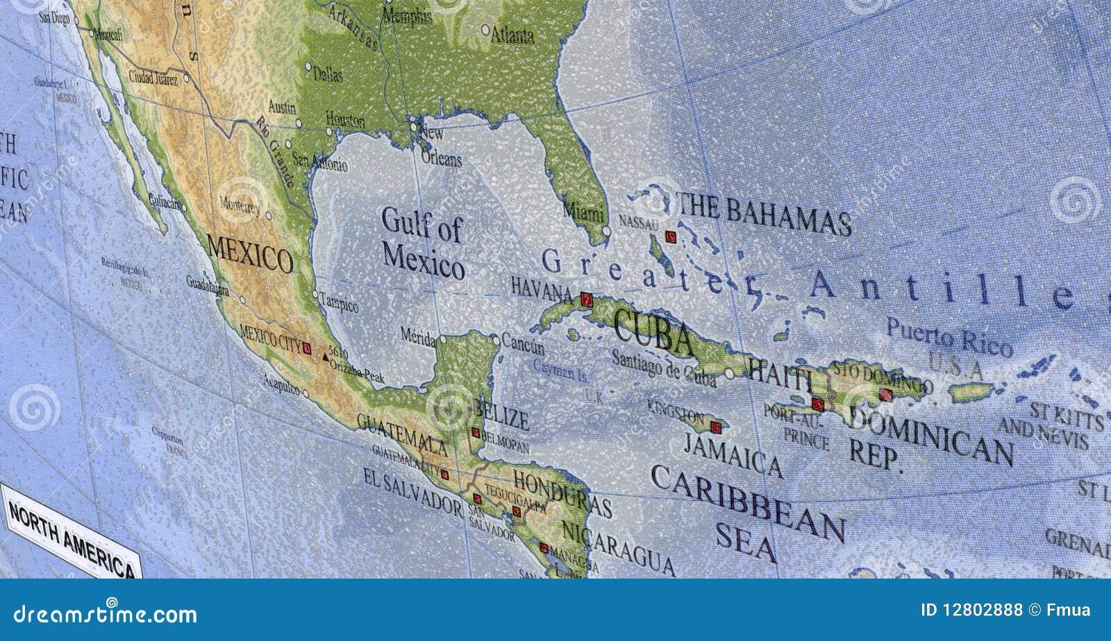 Mapa de Cuba, haiti, textura plástica, curso,