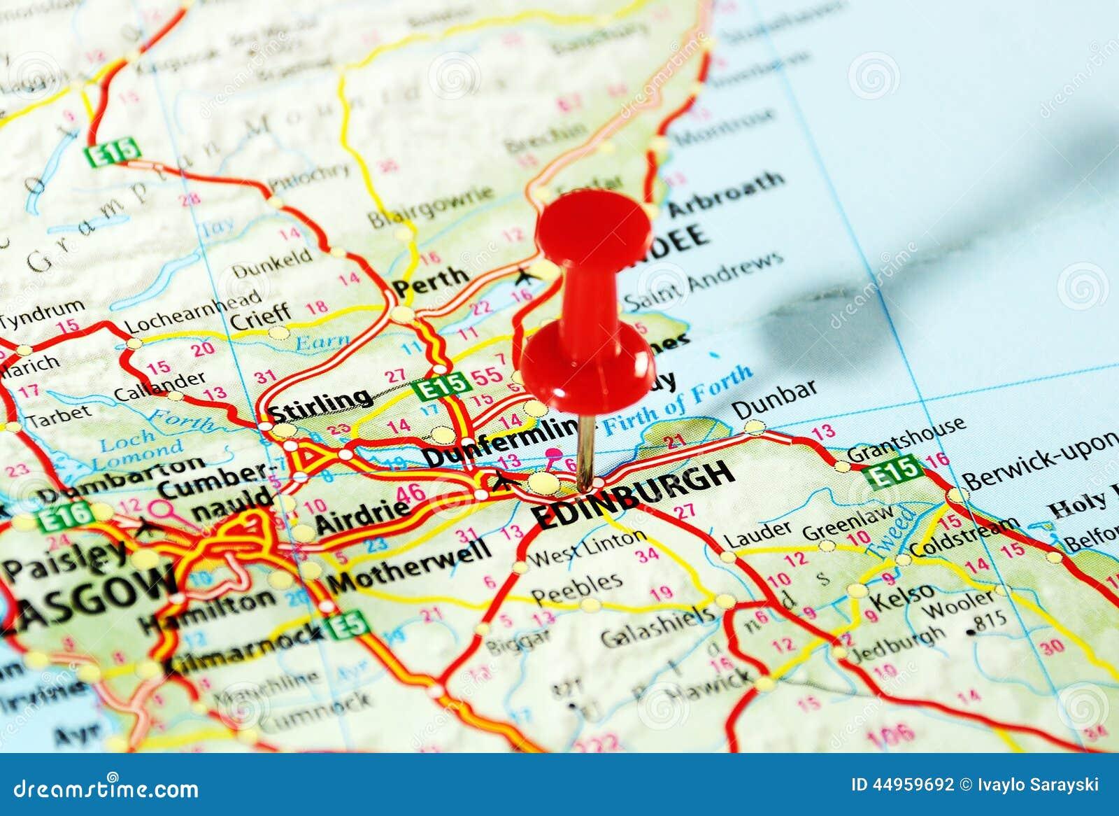Mapa De Edimburgo Escocia Foto De Archivo Imagen De Geografia