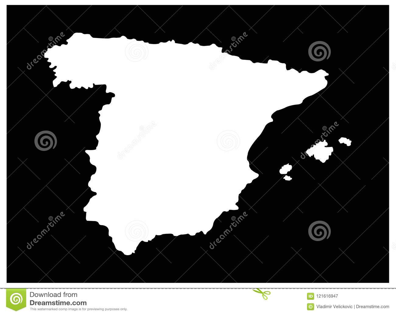 Mapa De España Estado Soberano En La Península Ibérica En Europa Ilustración Del Vector Ilustración De Europeo Europa 121616947