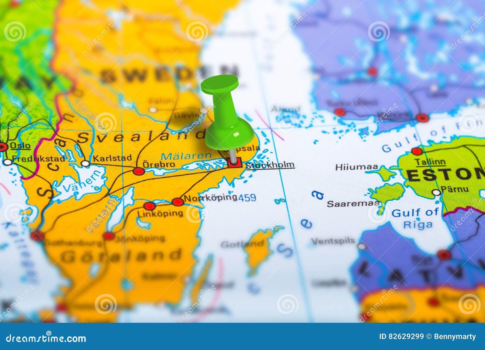 Mapa De Estocolmo Suecia Imagen De Archivo Imagen De Senal 82629299