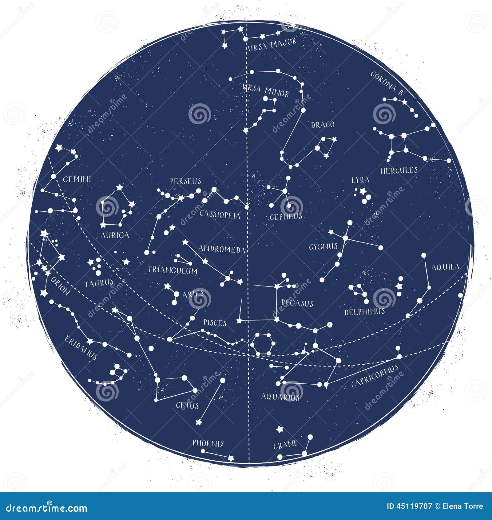 Mapa de estrella de la constelación