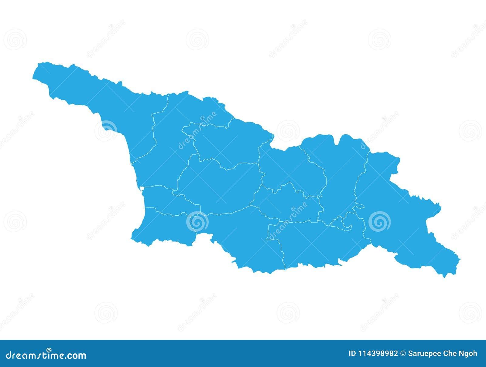Georgia Del Sur Mapa.Mapa De Georgia Osetia Del Sur Alto Mapa Detallado Del