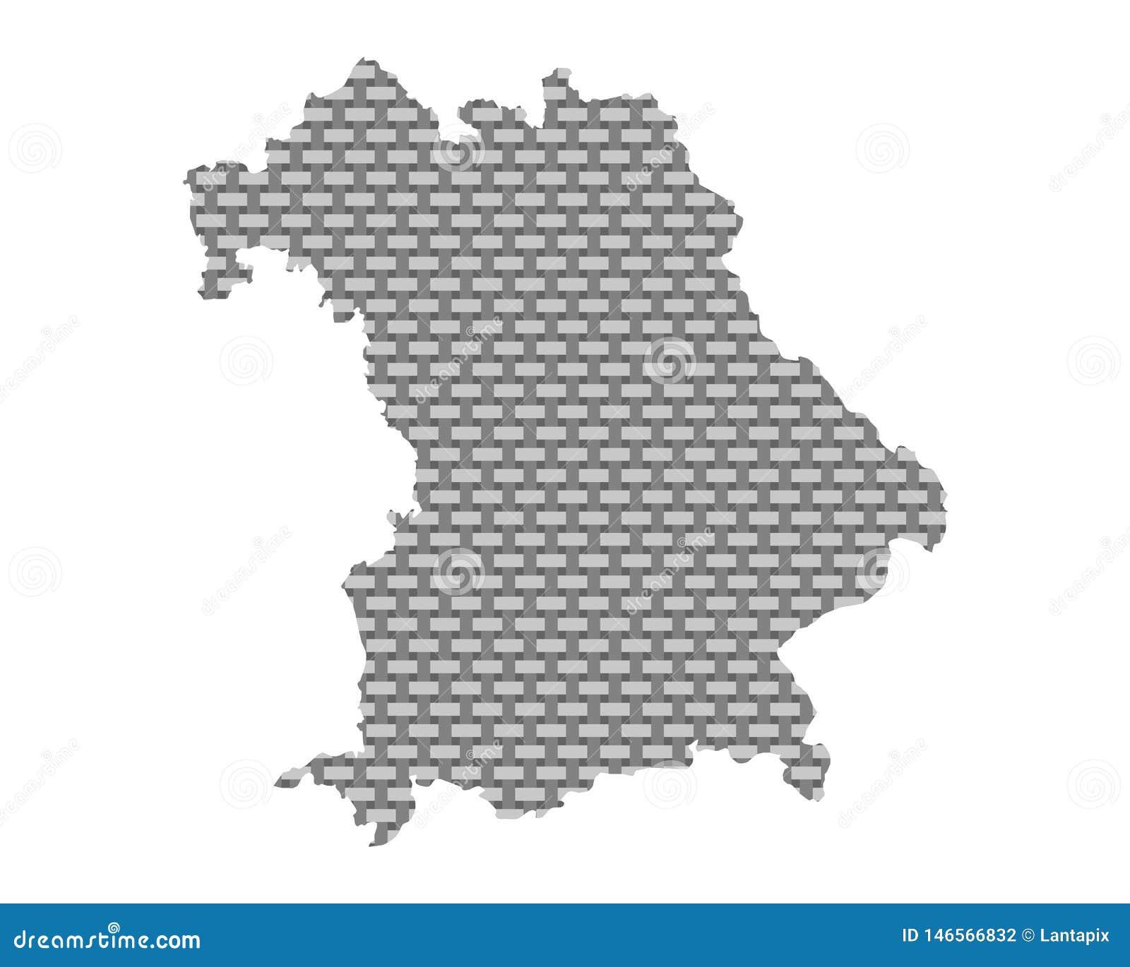 Mapa de grosseiro de Baviera engrenado