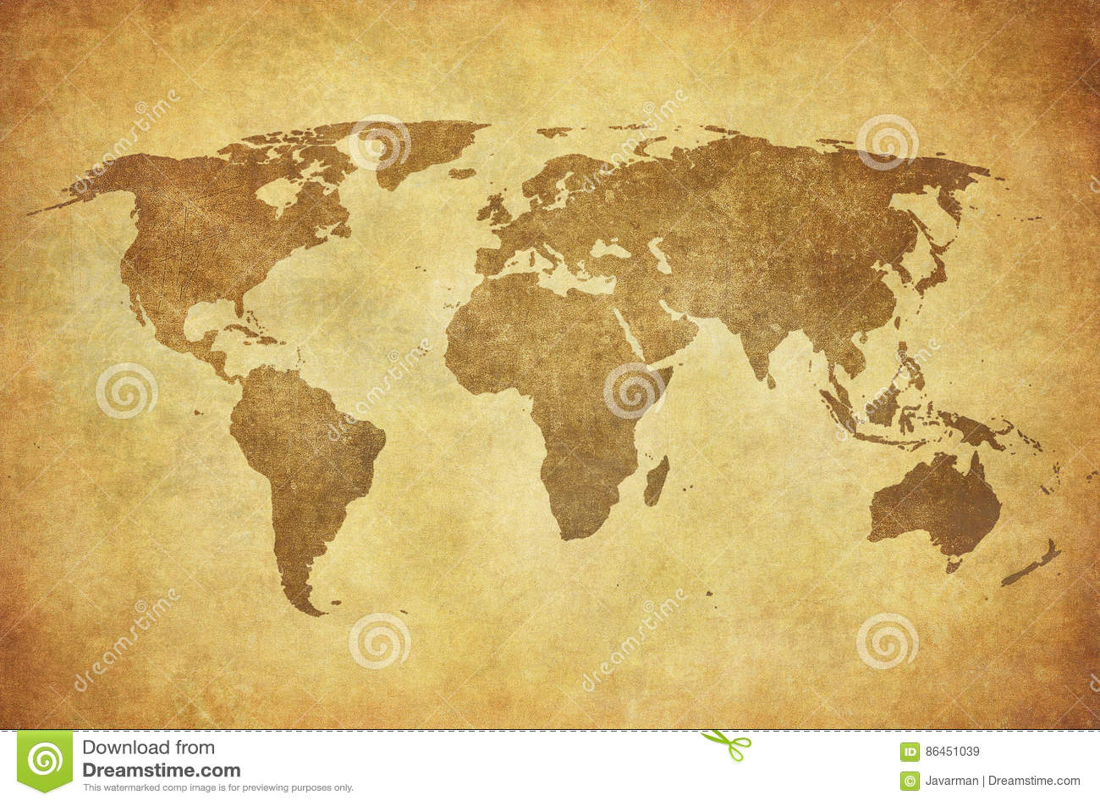 Mapa de Grunge do mundo