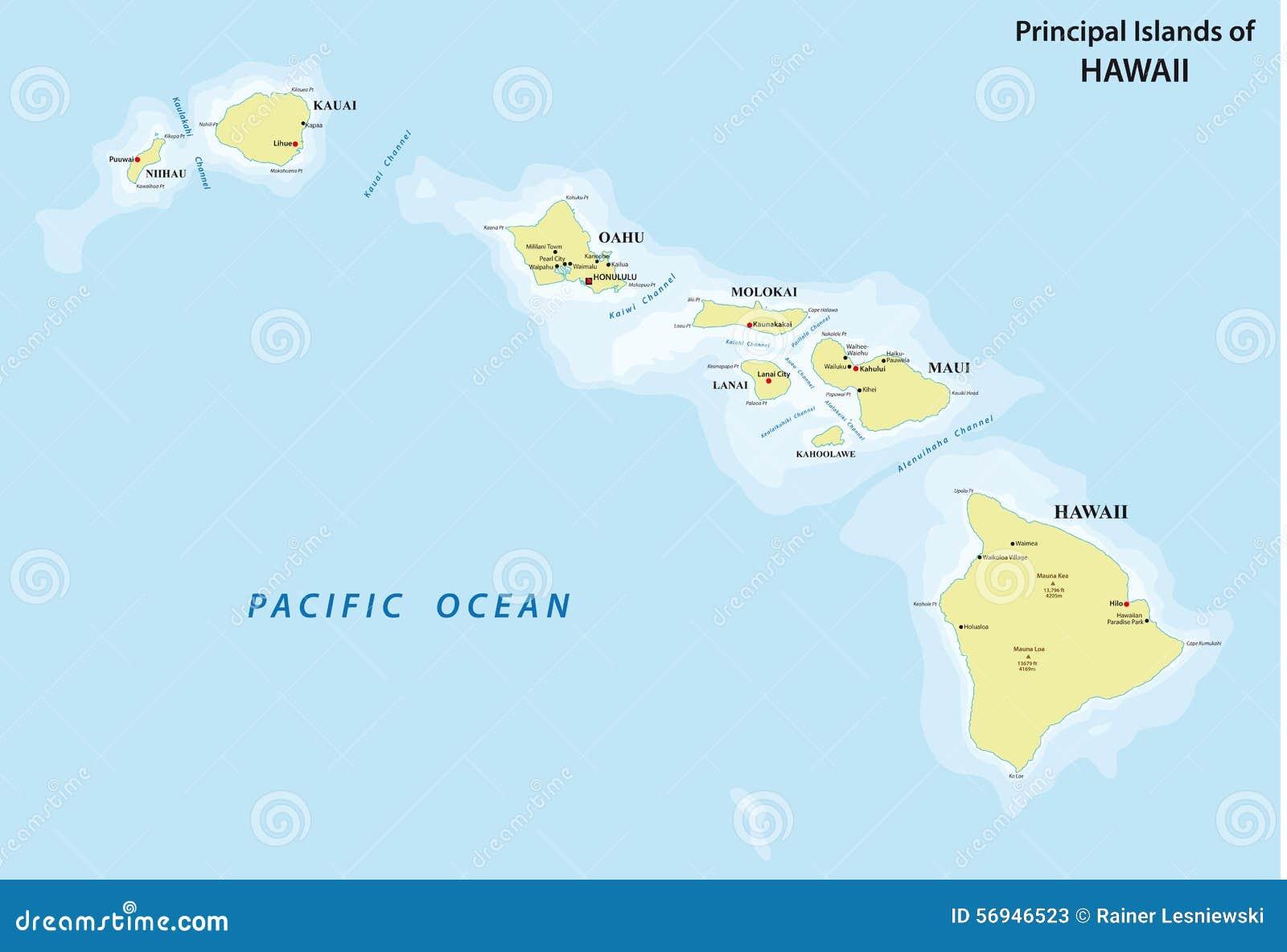 havai mapa Mapa de Havaí ilustração stock. Ilustração de principal   56946523 havai mapa