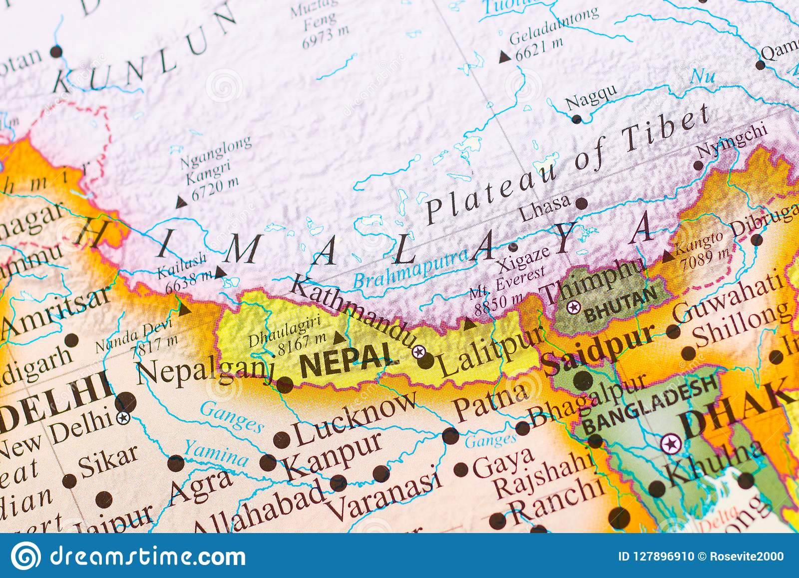 Mapa de Himalaya