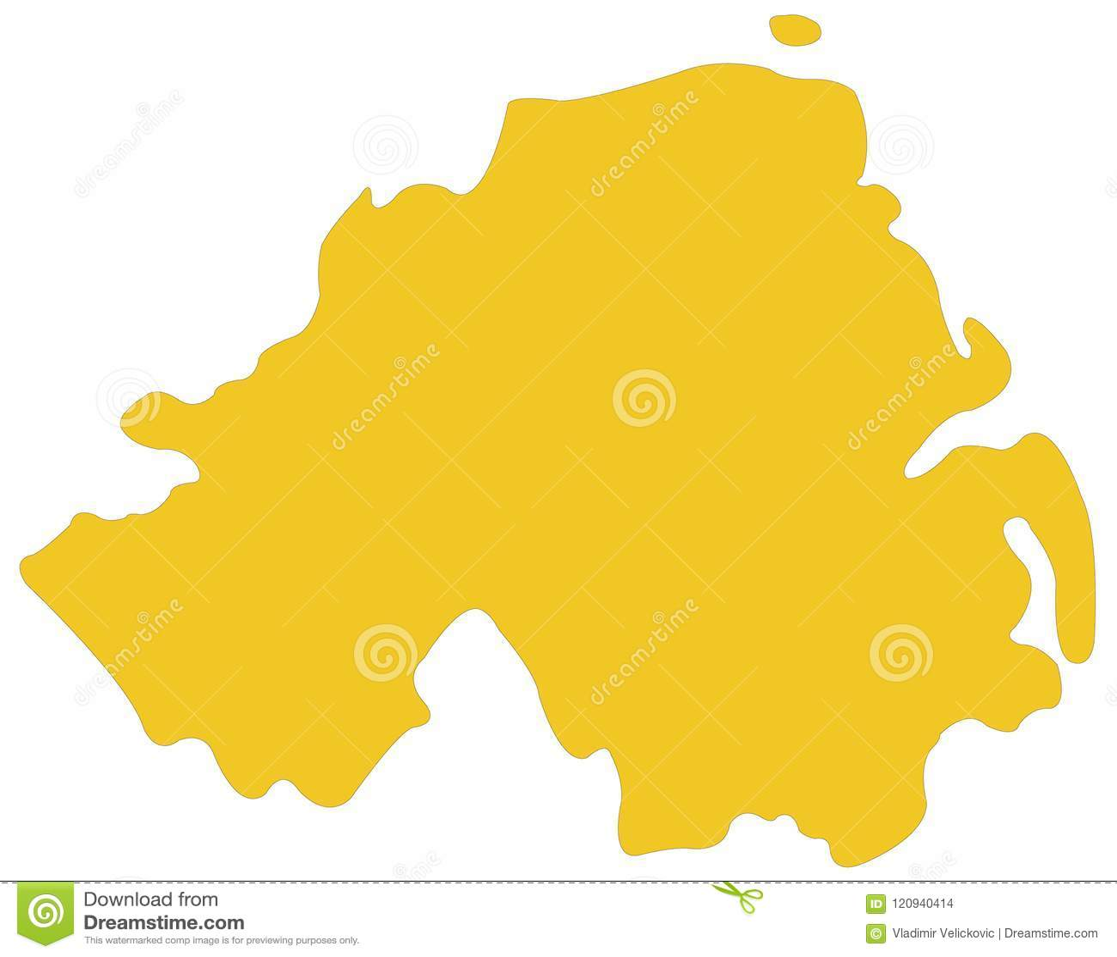Mapa Irlanda Del Norte.Mapa De Irlanda Del Norte Parte Del Reino Unido En Europa