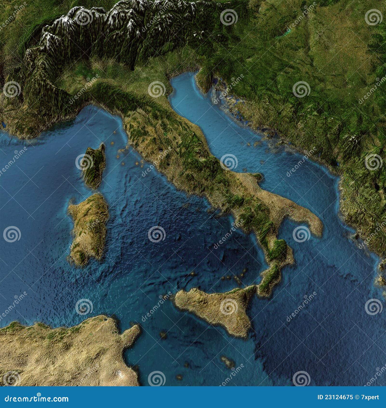 Mapa de Italy 3d