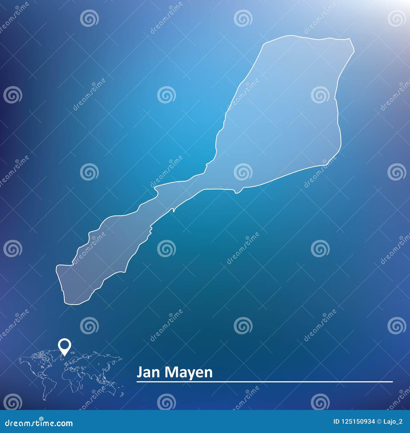 Mapa de Jan Mayen