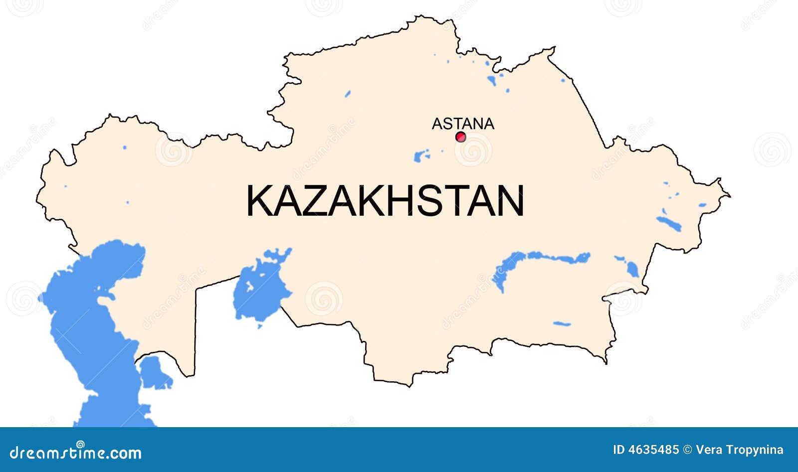 Mapa de Kazakhstan