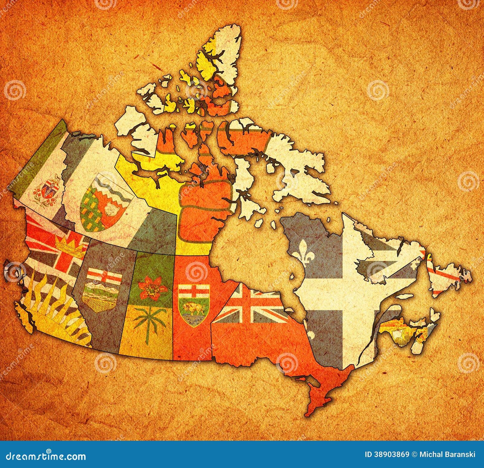 Mapa de la administración de Canadá