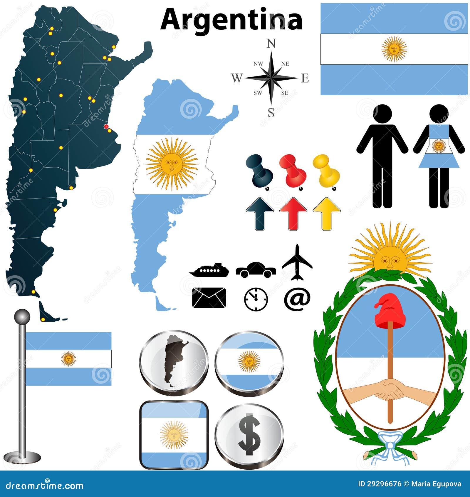 Mapa De La Argentina Imagen De Archivo Libre De Regalías Imagen - Argentina mapa