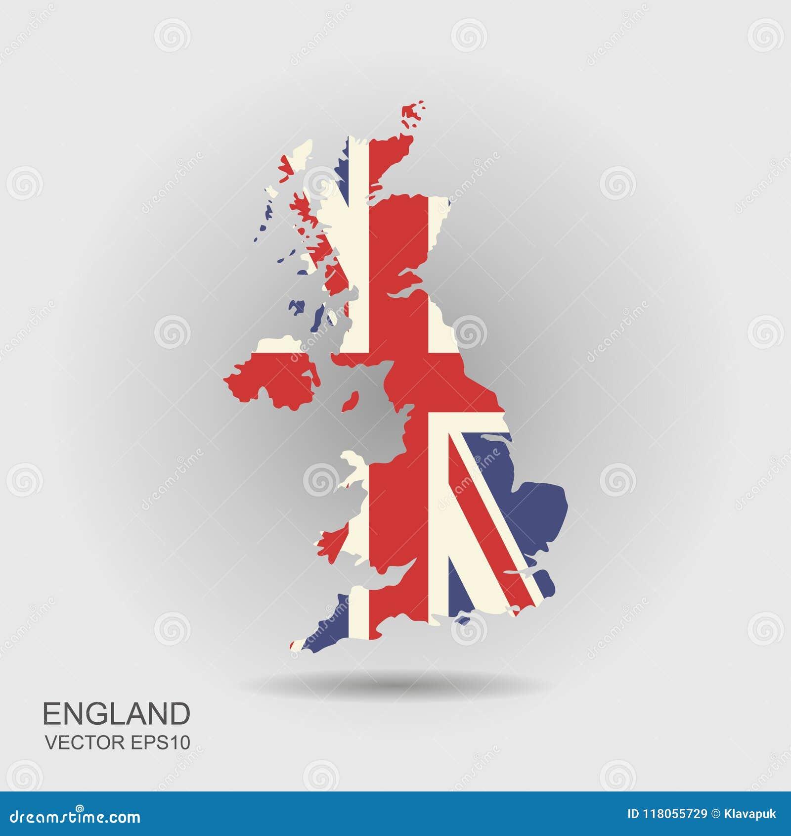 Mapa de la bandera de Reino Unido