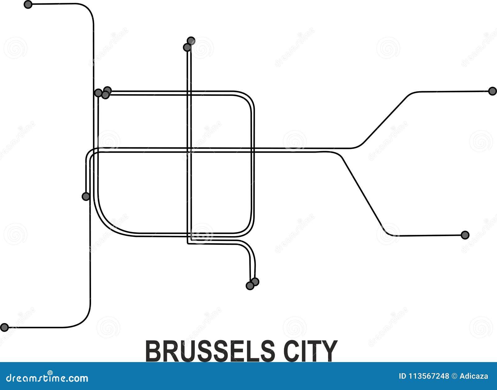 Mapa De La Ciudad De Bruselas Ilustracion Del Vector Ilustracion