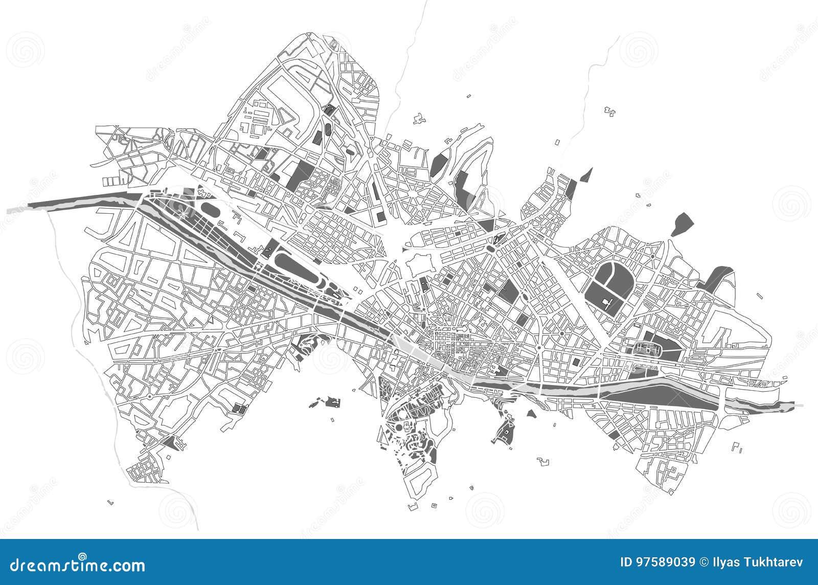 Mapa de la ciudad de Florencia, Italia