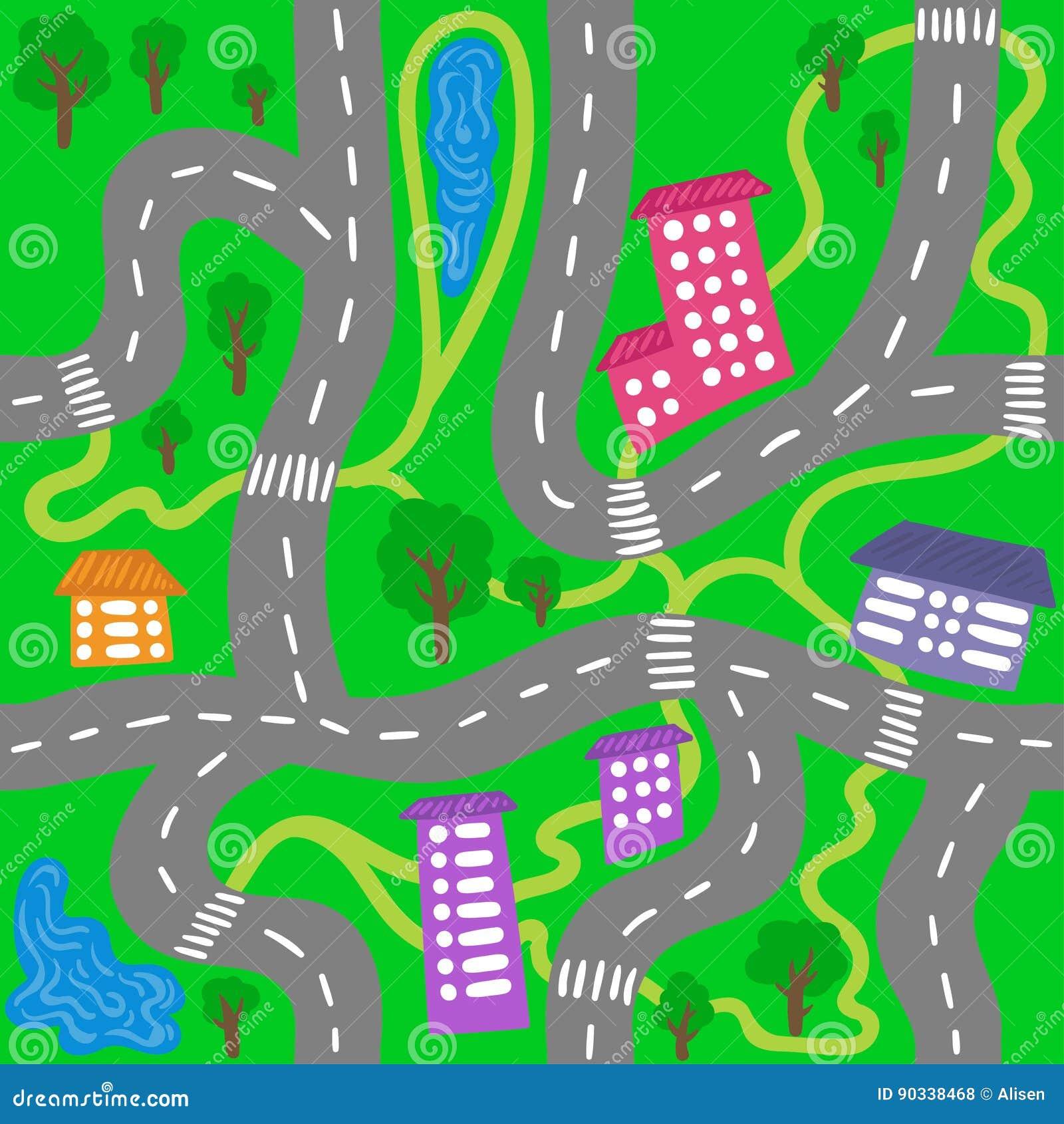 Mapa Ciudad Para Niños.Mapa De La Ciudad Del Nino Modelo Inconsutil De La Ciudad