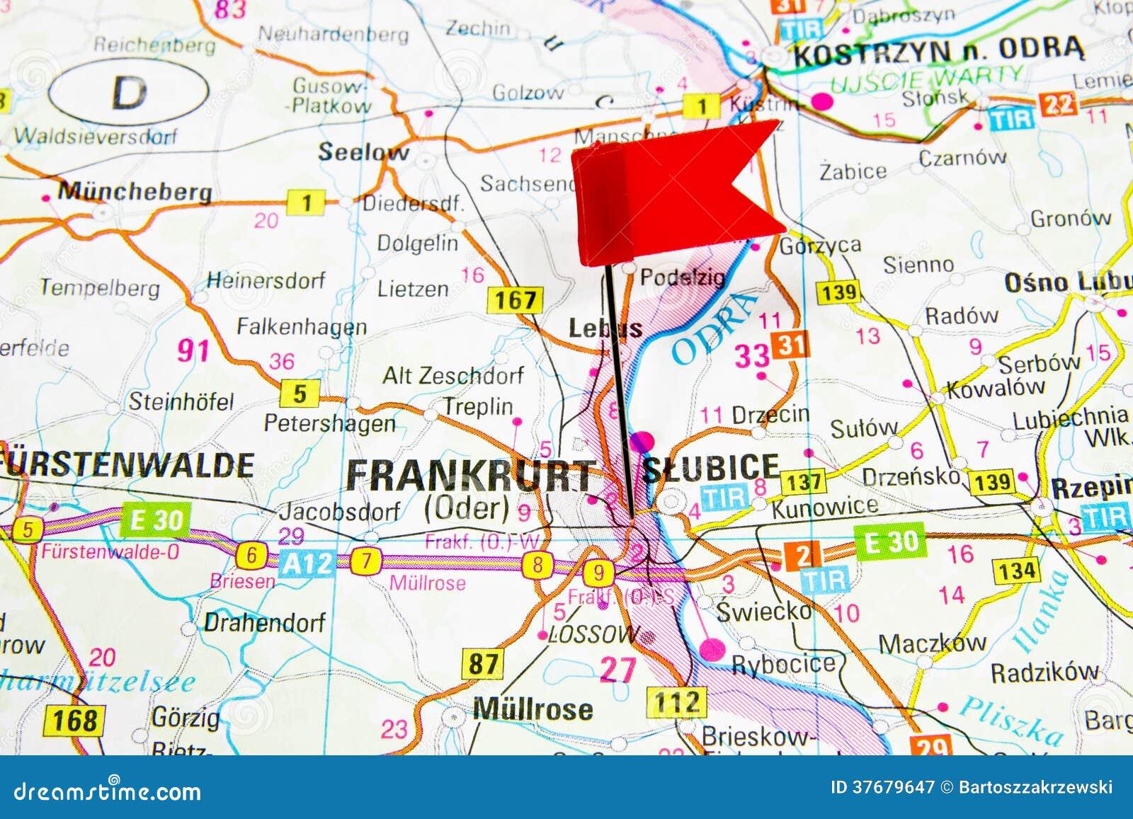 Mapa De La Ciudad Seleccionada Francfort, Alemania