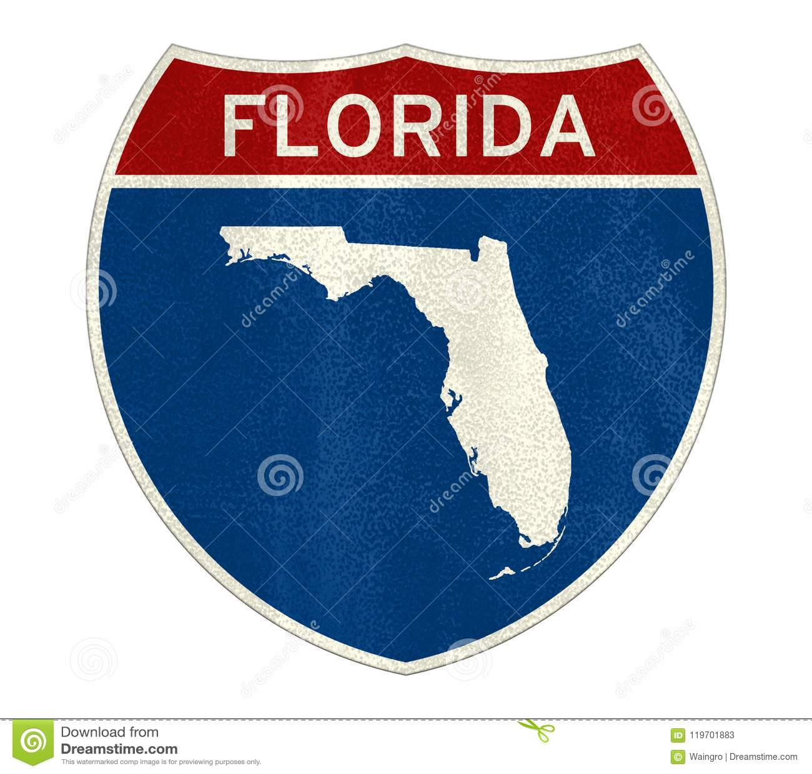 Mapa de la muestra de la Florida