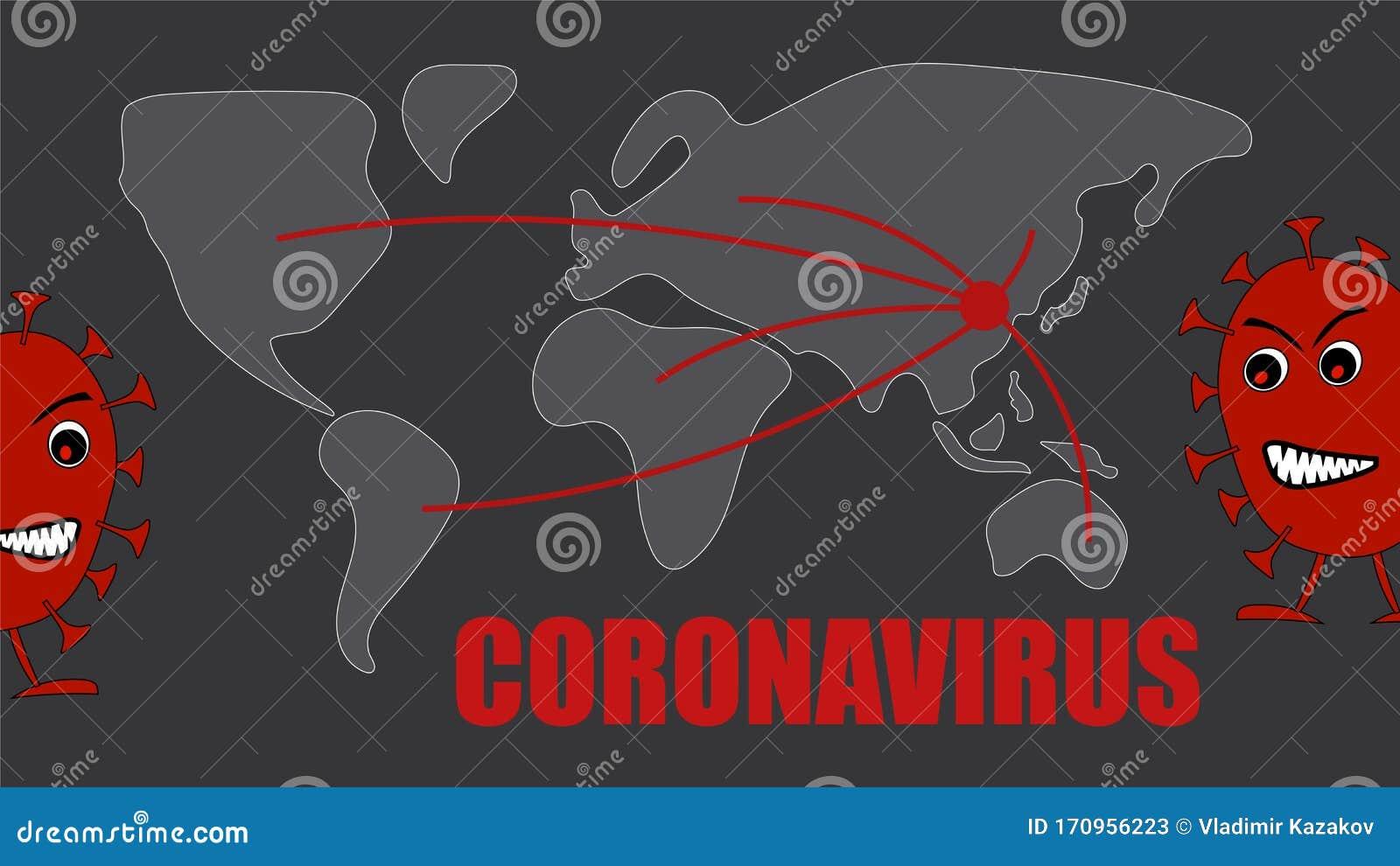 Mapa De La Propagacion Del Coronavirus Global Desde China Ilustracion Del Vector Ilustracion De Desde Global 170956223