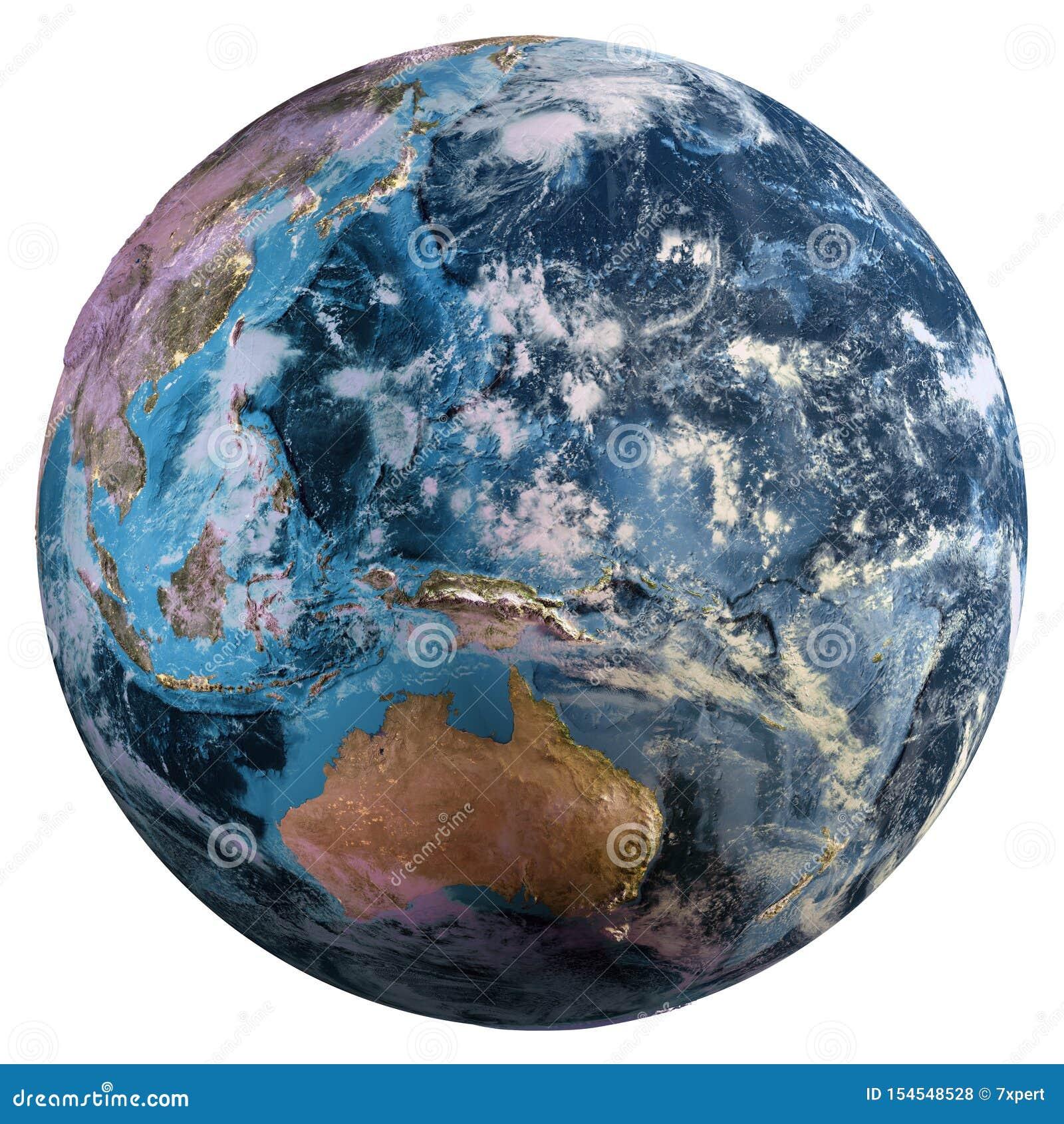 Mapa de la tierra del planeta