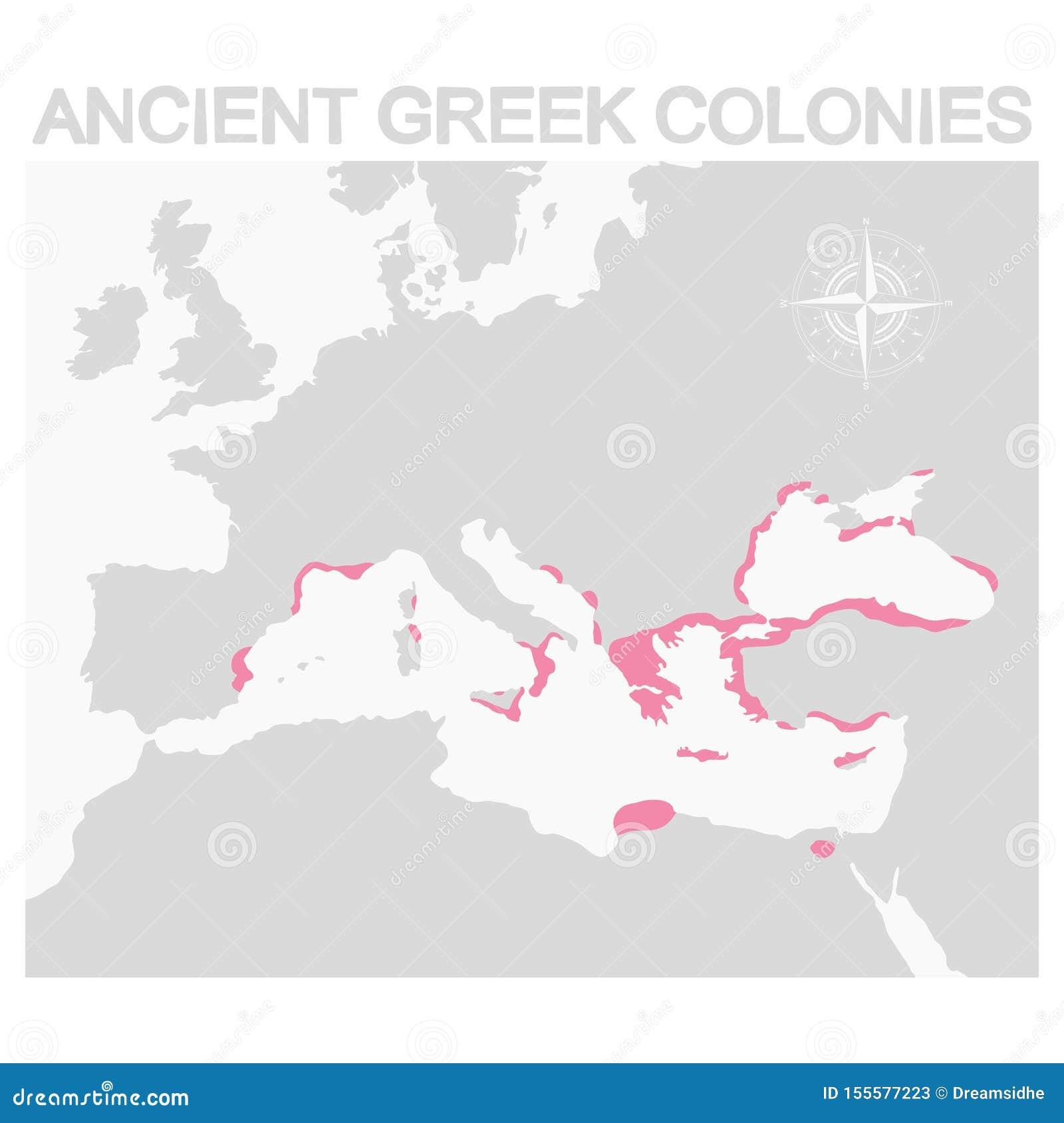 Mapa de las colonias del griego clásico
