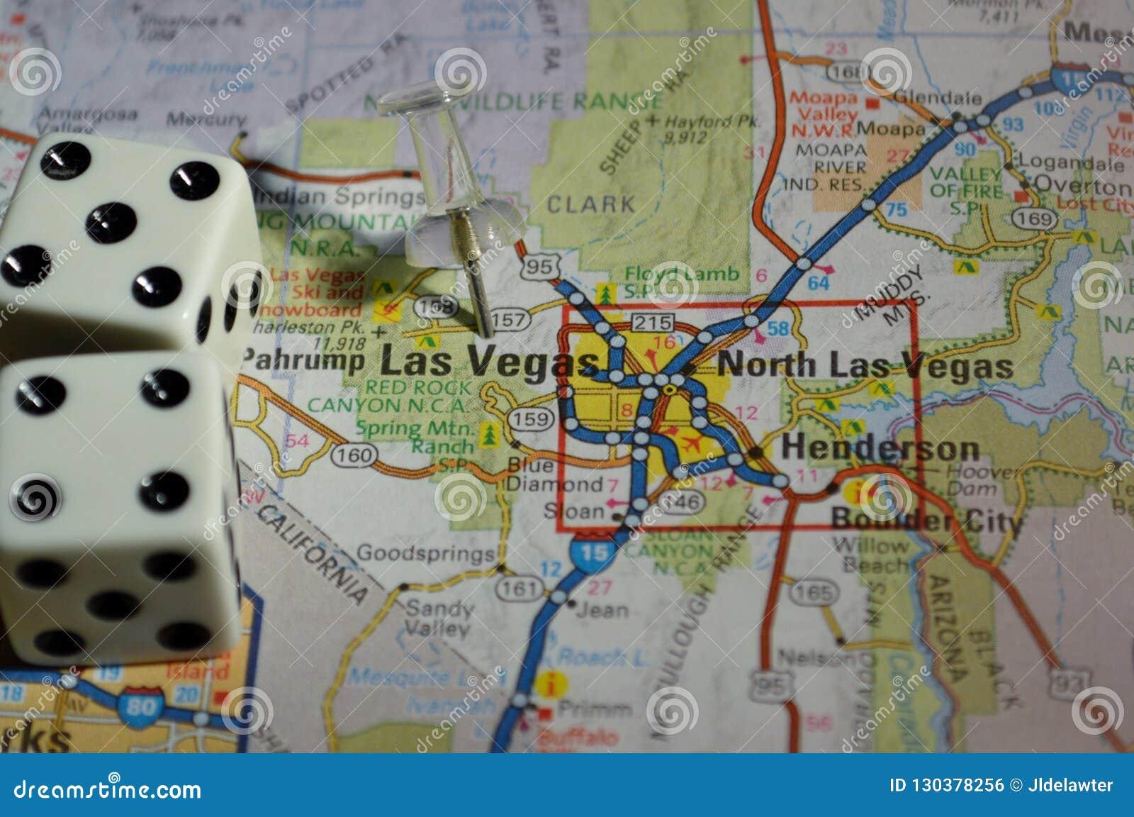 Mapa de Las Vegas